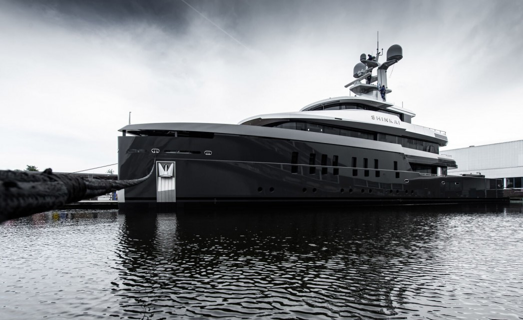 Feadship's 'Deep Sea' 55m superyacht Shinkai launched in Aalsmeer