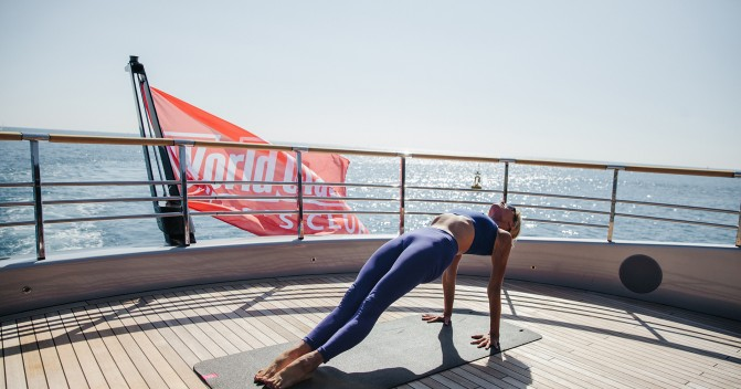 The Monaco based superyacht builder Dynamiq joint forces with lifestyle fitness club World Class