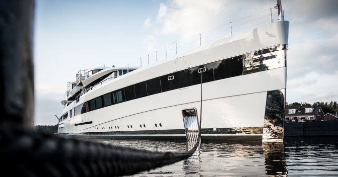 Feadship launches one of its biggest superyachts to date